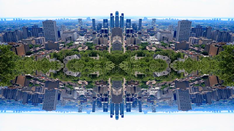 Город Монреаль зеркала стоковое фото