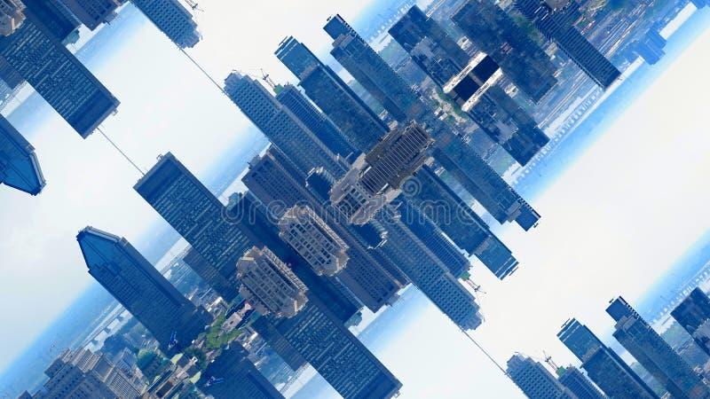 Город Монреаль зеркала стоковые изображения rf