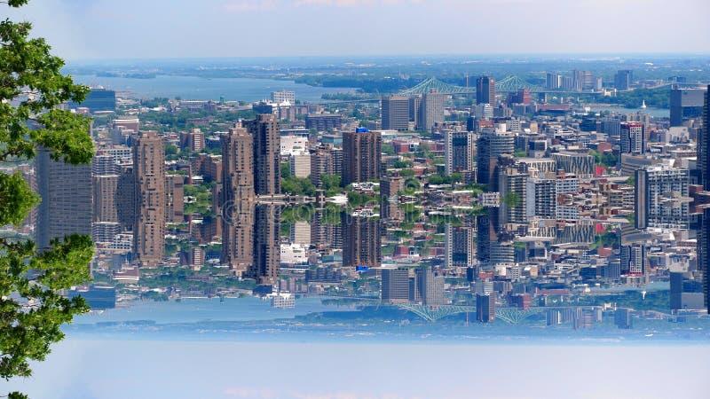 Город Монреаль зеркала стоковые изображения