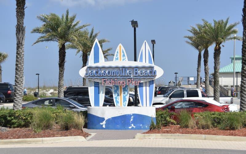 Город морского курорта Флориды пляжа Джексонвилл стоковые изображения rf