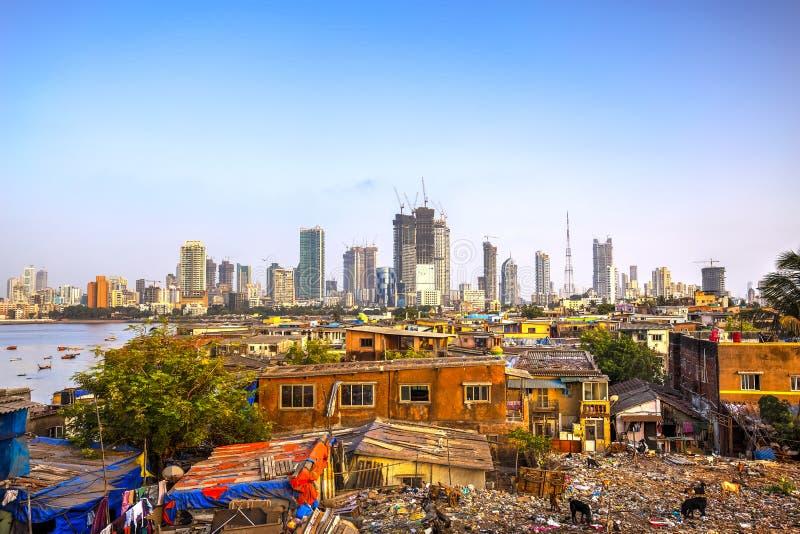 Город Мумбая, Индия стоковое изображение