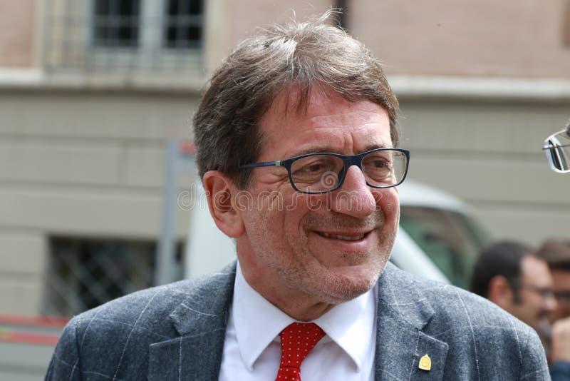 Город мэра Giancarlo Muzzarelli новый Моденаа, Италии стоковые фото