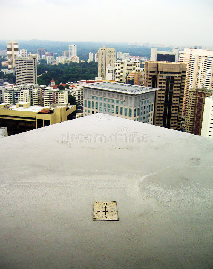 город над стоять стоковое изображение