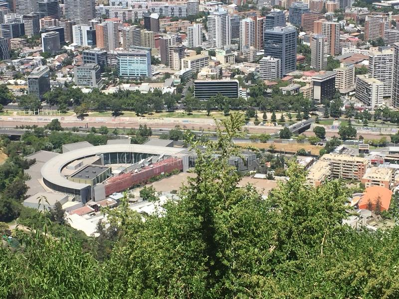 Город на верхней части стоковая фотография rf