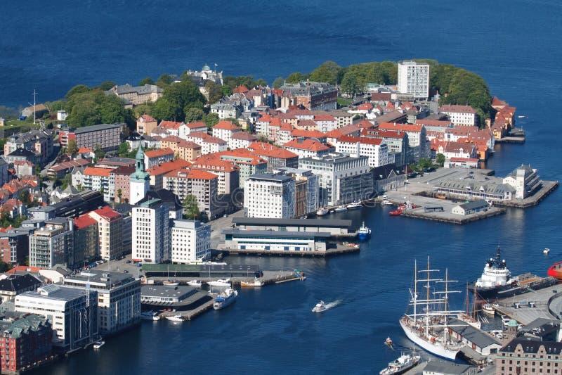 город Норвегия bergen стоковые фото
