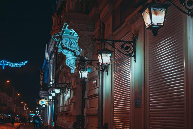 Город ночи стоковые изображения rf
