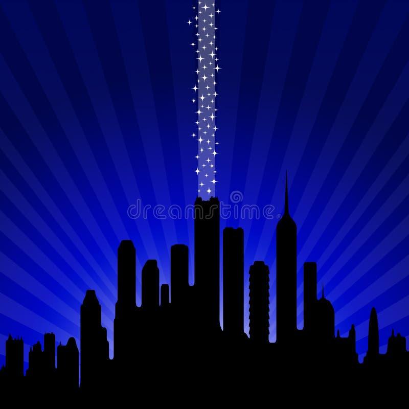 Город ночи иллюстрация вектора