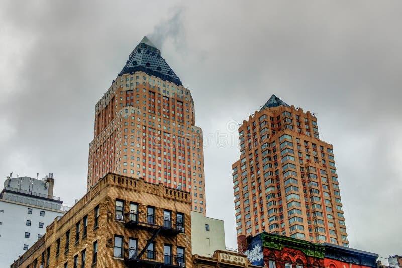 Город-Одн Нью-Йорка & 2 всемирных здания площади стоковое фото