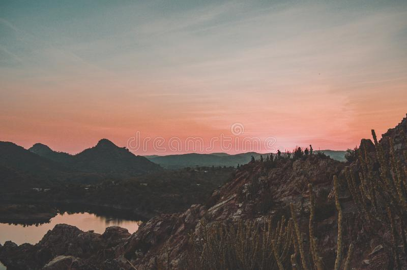 Город озер стоковые изображения rf
