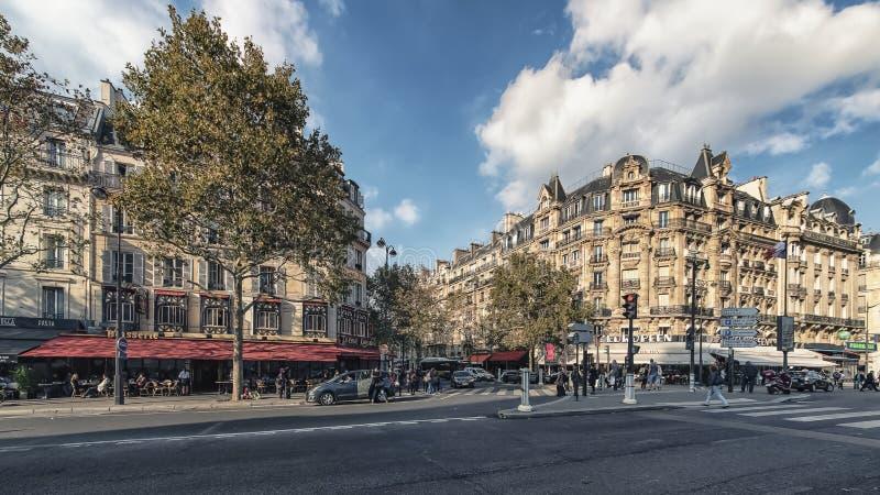Город Парижа в дневном времени стоковое фото