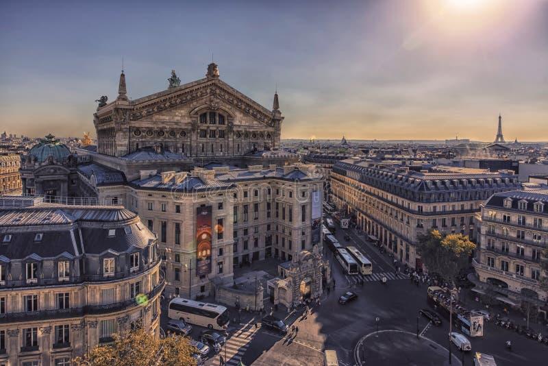 Город Парижа в после полудня стоковые изображения