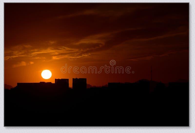 Город Пекина под заходом солнца стоковые фотографии rf