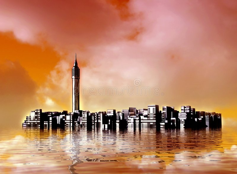 город подводный бесплатная иллюстрация
