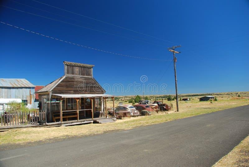 Город-привидение Shaniko, Орегон стоковые изображения