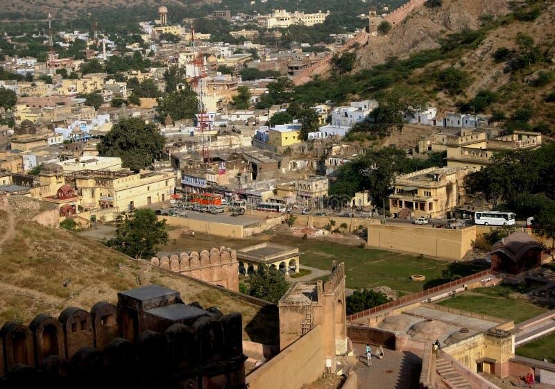 город расквартировывает jaipur стоковые изображения rf