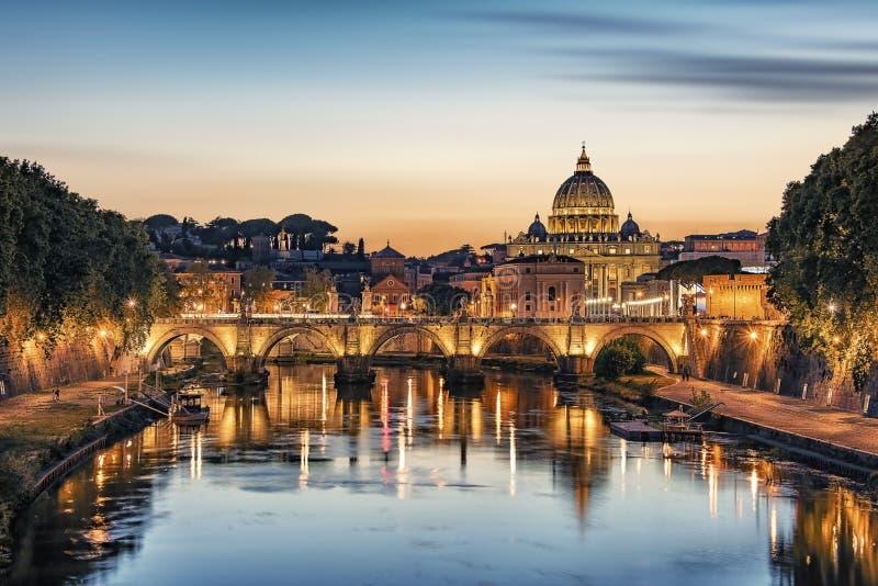 Город Рима после обеда стоковые фотографии rf