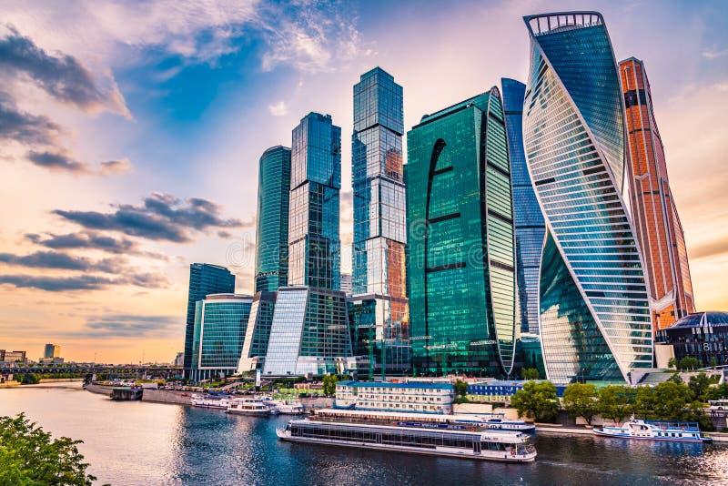 Город России, Москвы делового центра Москвы - 14-ое июня 2018 современный стоковое изображение rf