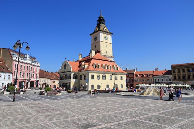 город Румыния brasov стоковые изображения rf