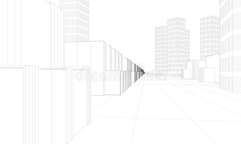 город самомоднейший иллюстрация штока