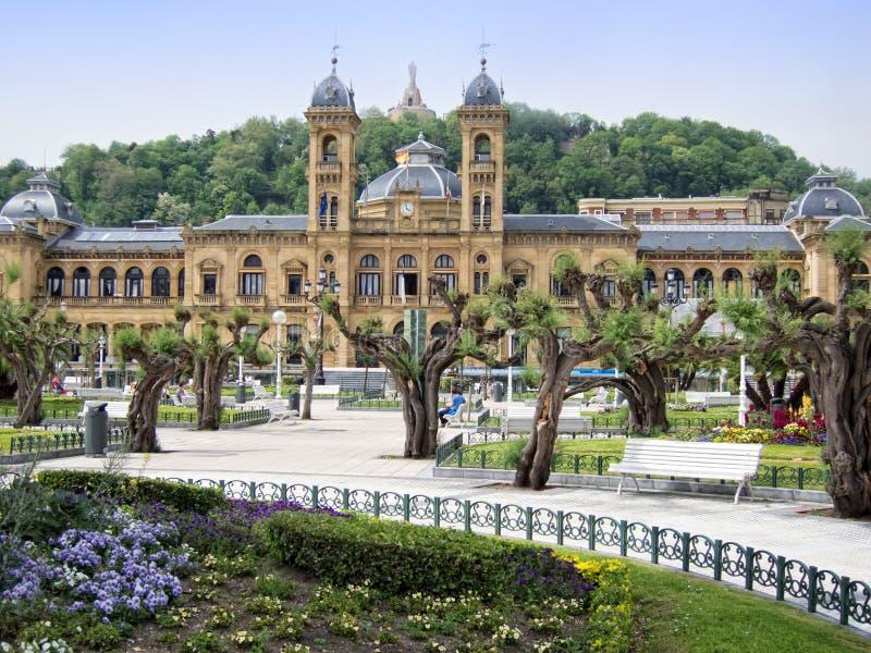 Город Сан Sebastian стоковое фото rf