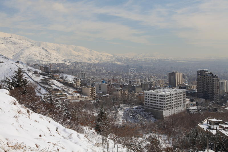 город северный tehran зоны стоковое фото rf