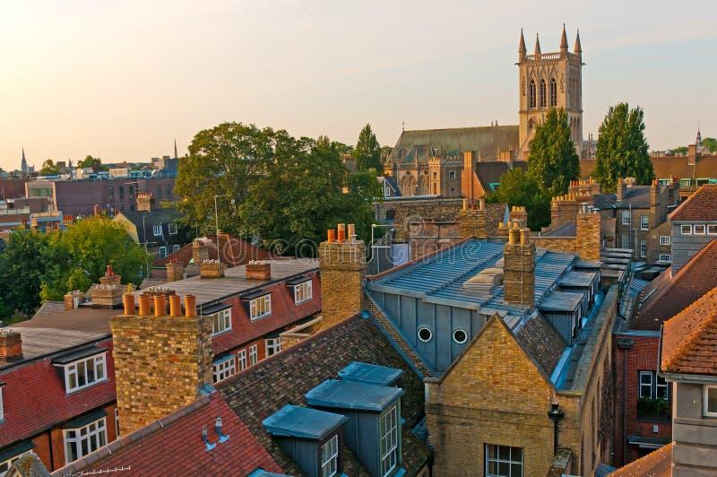 город собора cambridge стоковые изображения