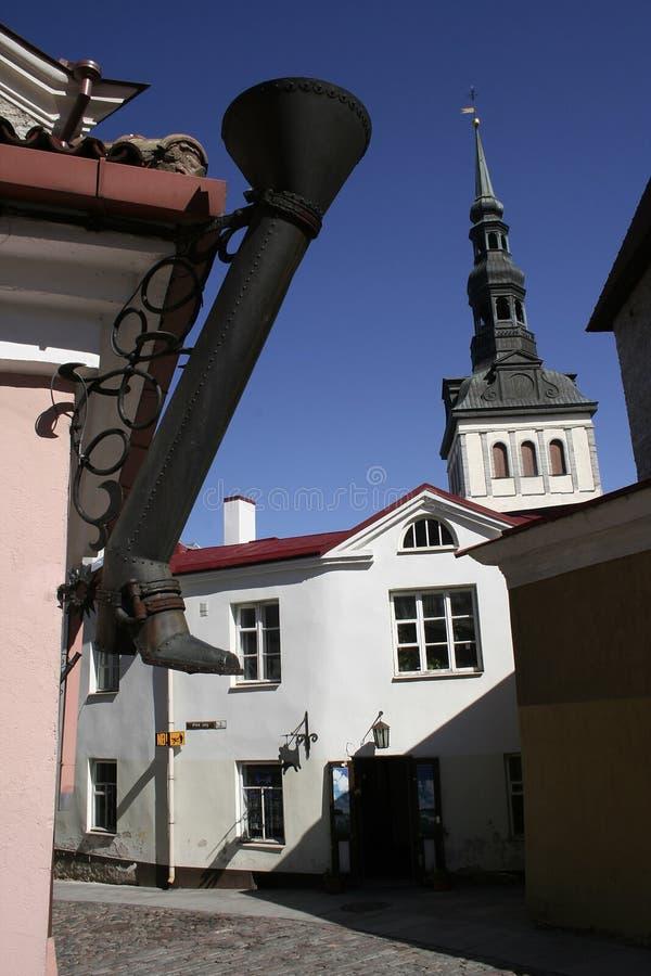 город старый tallinn стоковое изображение
