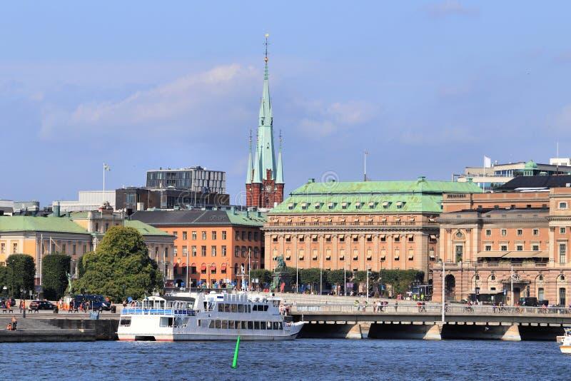 Город Стокгольма стоковые фотографии rf