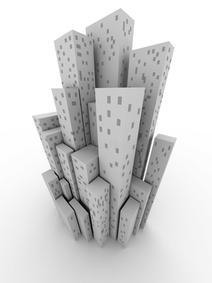 город схематический иллюстрация штока
