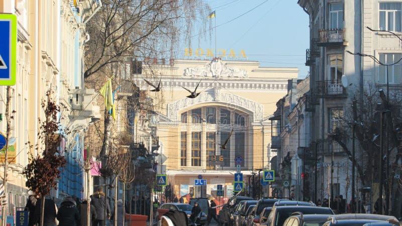 Город Тернополь зимой стоковые изображения rf