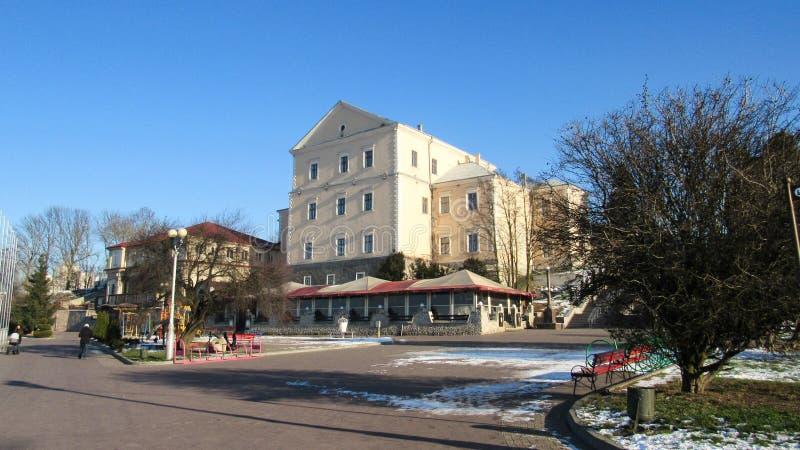Город Тернополь зимой стоковое изображение