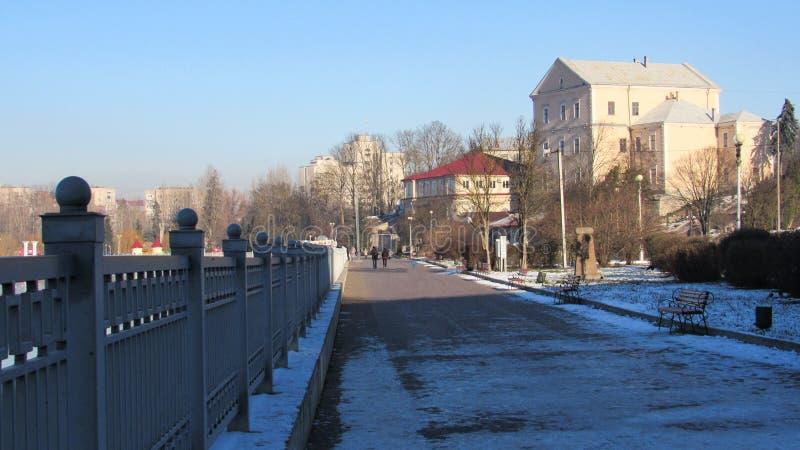 Город Тернополь зимой стоковое изображение rf