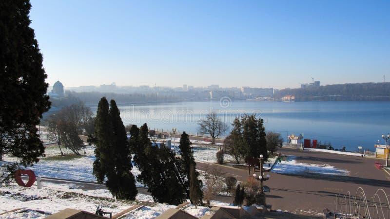 Город Тернополь зимой стоковое фото rf