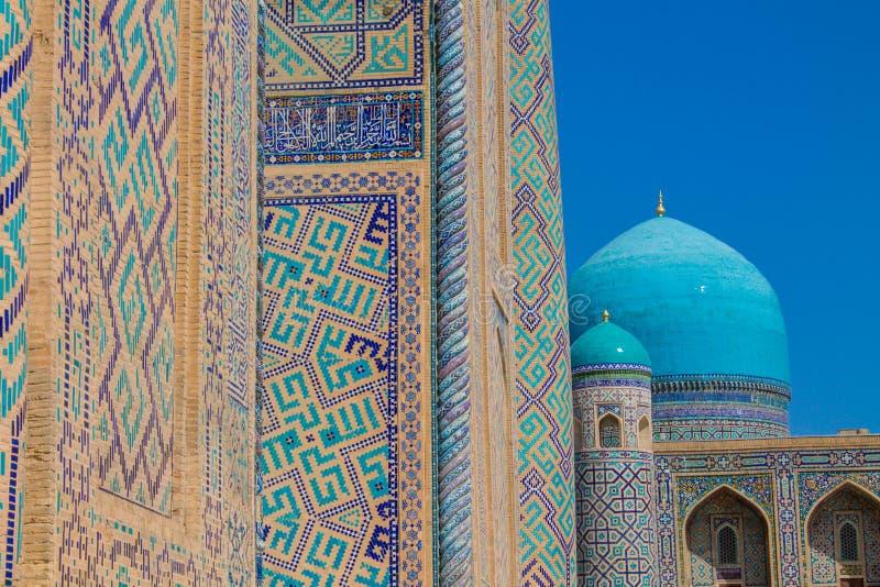 Город Узбекистана красивый памятников Самарканда и Бухары архитектурноакустических стоковое фото rf