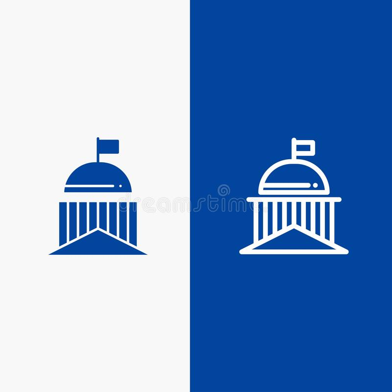 Город, флаг, зеленый цвет, Ирландия, значка линии и глифа знамени ирландского значка линии и глифа твердого знамя голубого твердо иллюстрация штока
