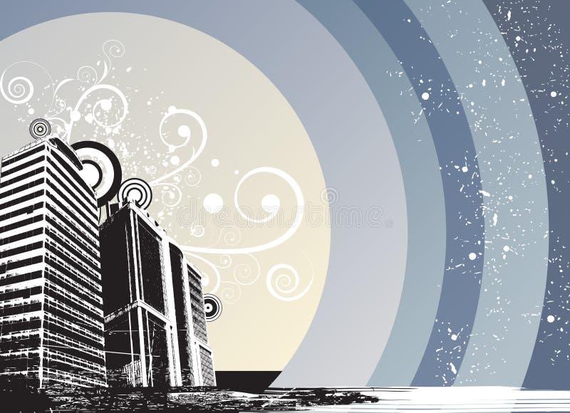 город флористический иллюстрация вектора