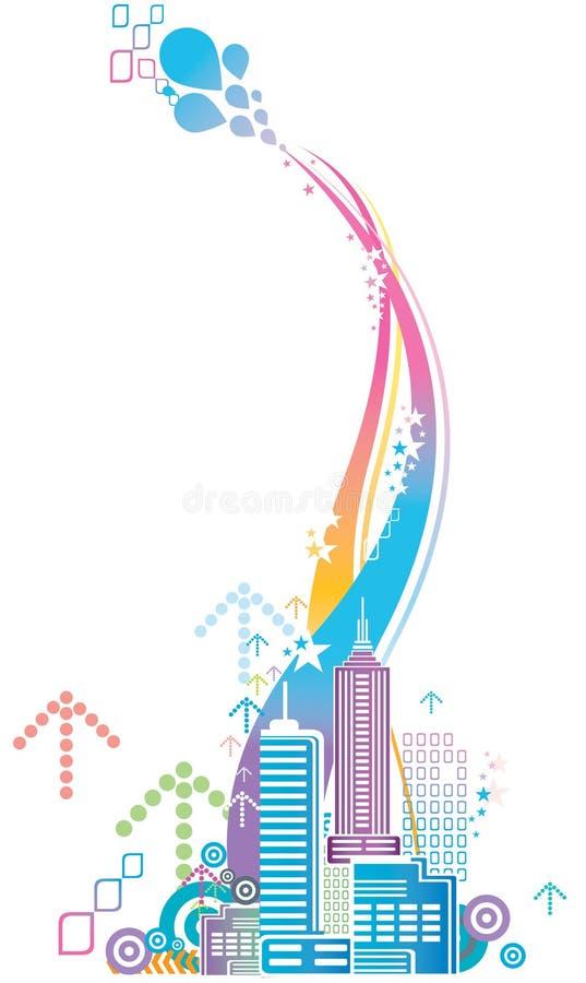 город цветастый иллюстрация вектора