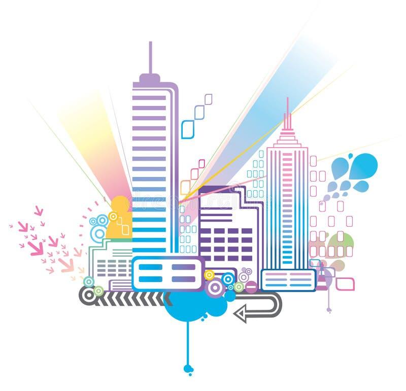 город цветастый бесплатная иллюстрация