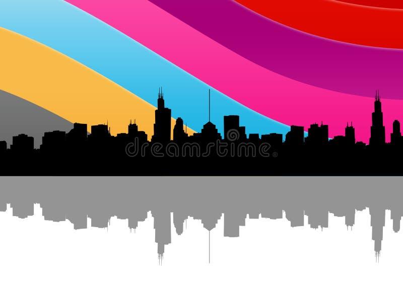 город цветастый иллюстрация штока