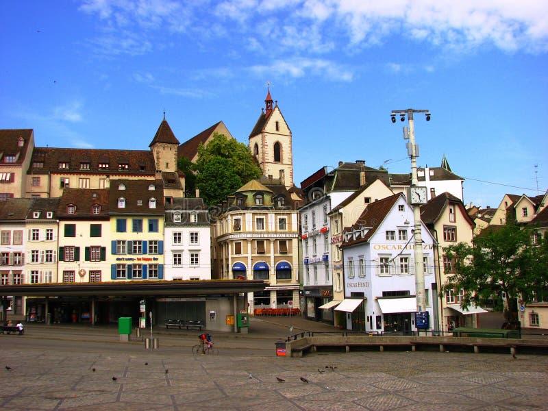 город Швейцария basel разбивочный стоковое изображение rf