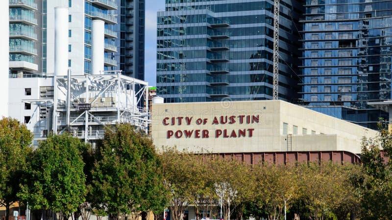 Город электростанции Austin стоковое изображение rf