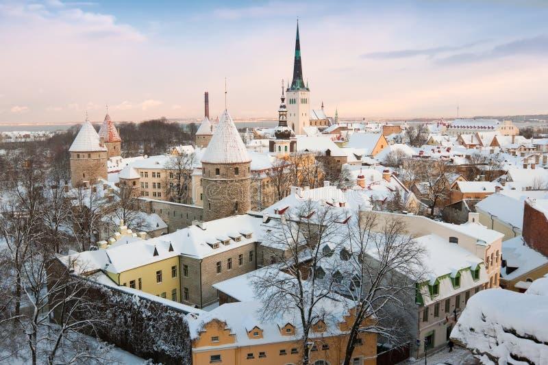 город эстония старый tallinn стоковая фотография rf
