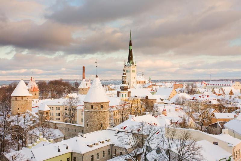 город эстония старый tallinn стоковые фотографии rf