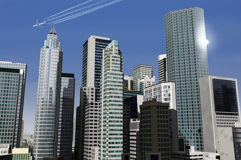 город 21 мнимый стоковое изображение rf