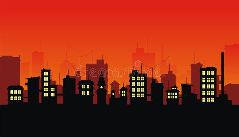 город 3 иллюстрация штока