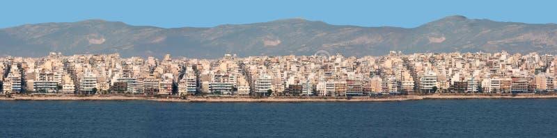 Город Athen от моря стоковая фотография rf