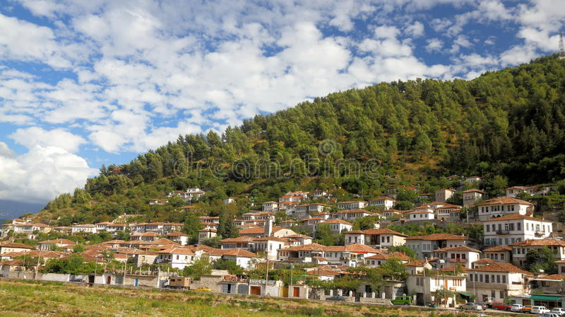 город berat Албании стоковое фото rf