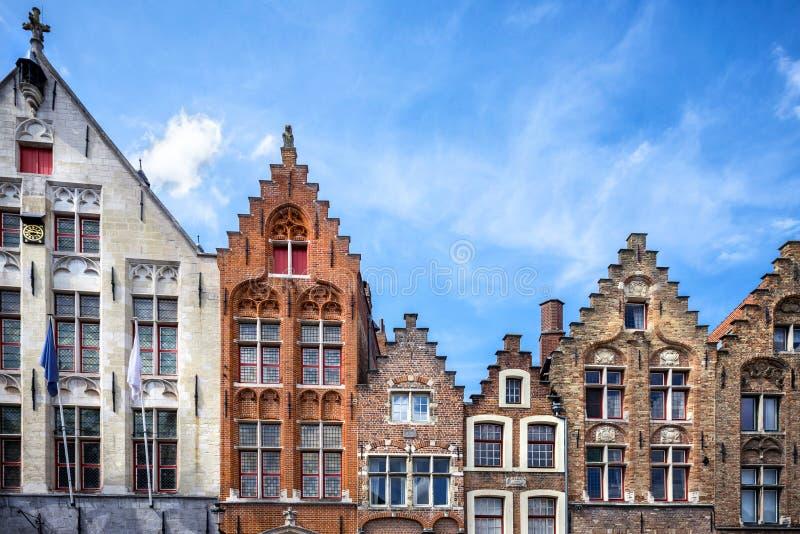 Город Brugge средневековый исторический Улицы Brugge и исторические центр, каналы и здания belia стоковые фотографии rf