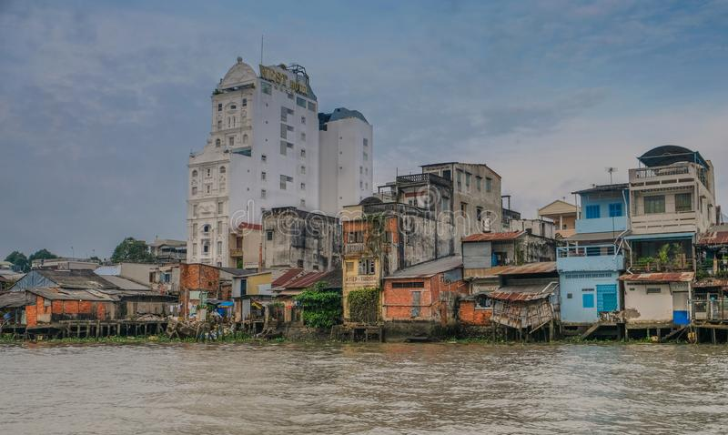 Город Can Tho в Вьетнаме стоковое фото