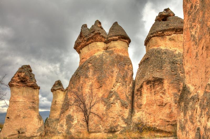 Город Cappadocia отключения воздуха известный в Турции стоковое изображение